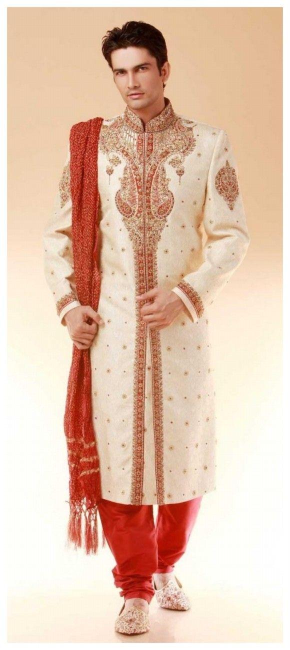 Bridegroom Indian Pakistani Wedding Party Wear Dresses For Men Male