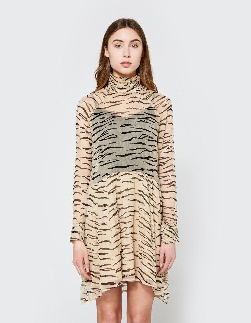 Whitman Chiffon Dress   Dresses, Chiffon dress, Ganni dress