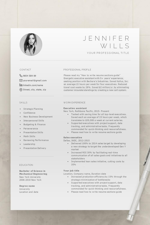 Pin auf Resume Templates Professional