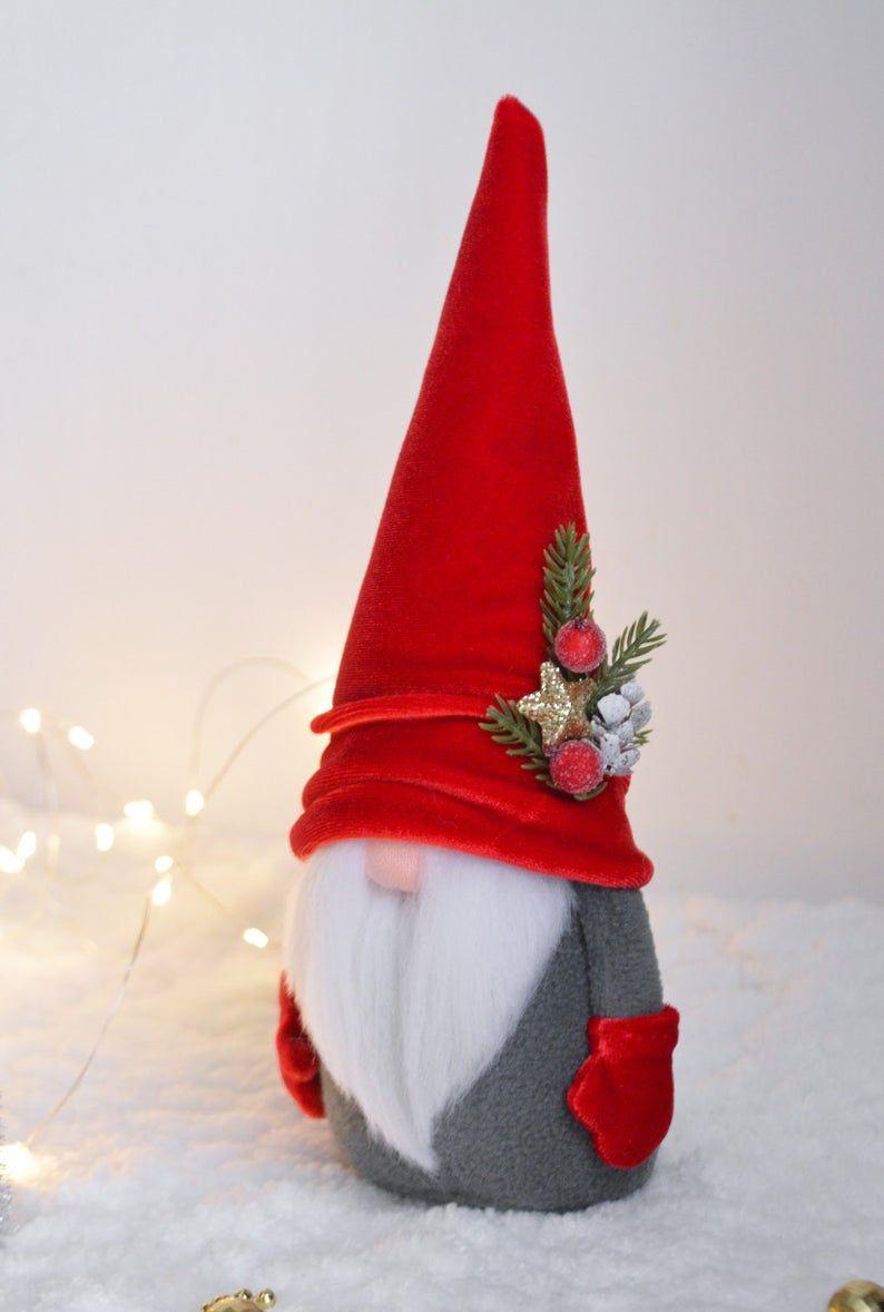 Tompte Gnomes Christmas Gnome Handmade Norwegian Gnome Etsy Christmas Elf Christmas Knomes Christmas Gnome