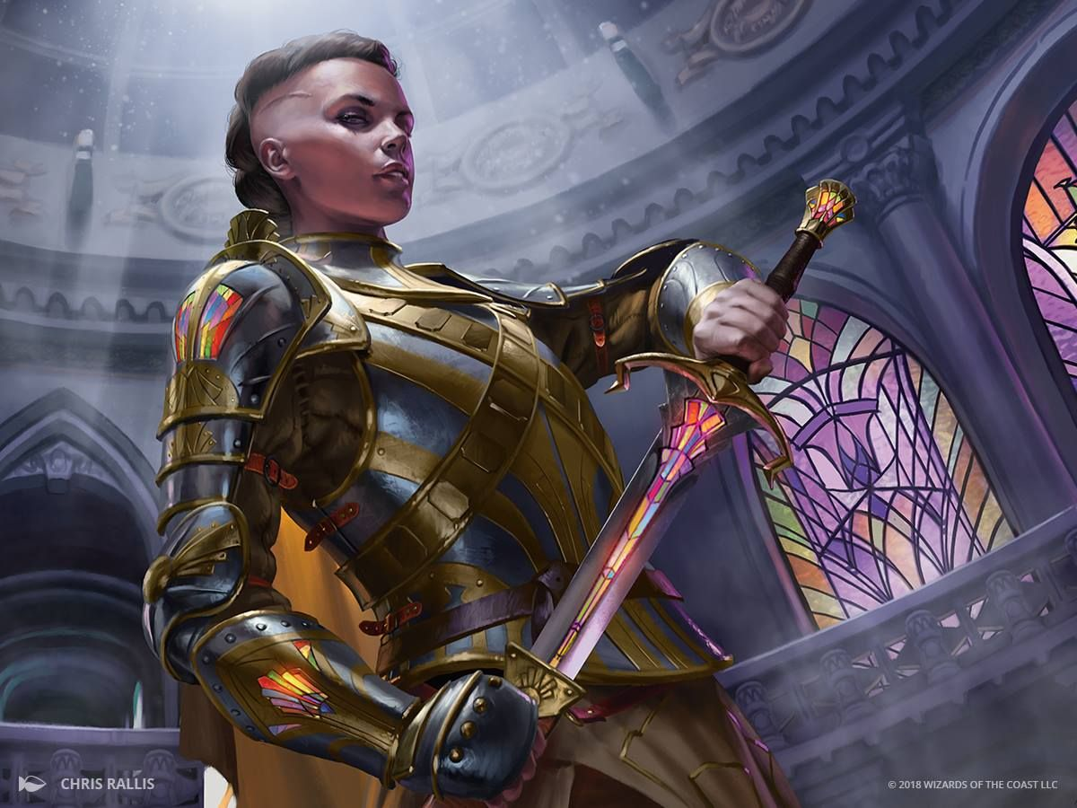 Female human knight paladin undercut Mohawk Pathfinder DND D&D 5E d20 | Character art, Fantasy ...