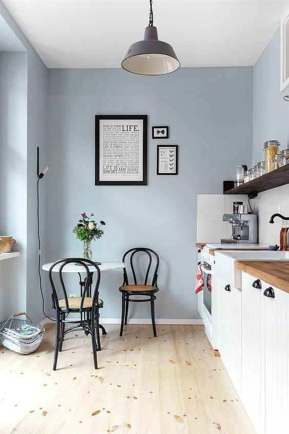 Graue Wandfarbe Wand, Wall colors and Interiors