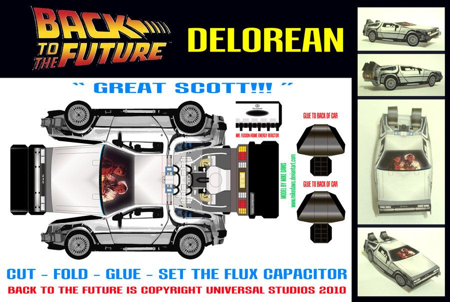 Delorean By *mikedaws On DeviantART