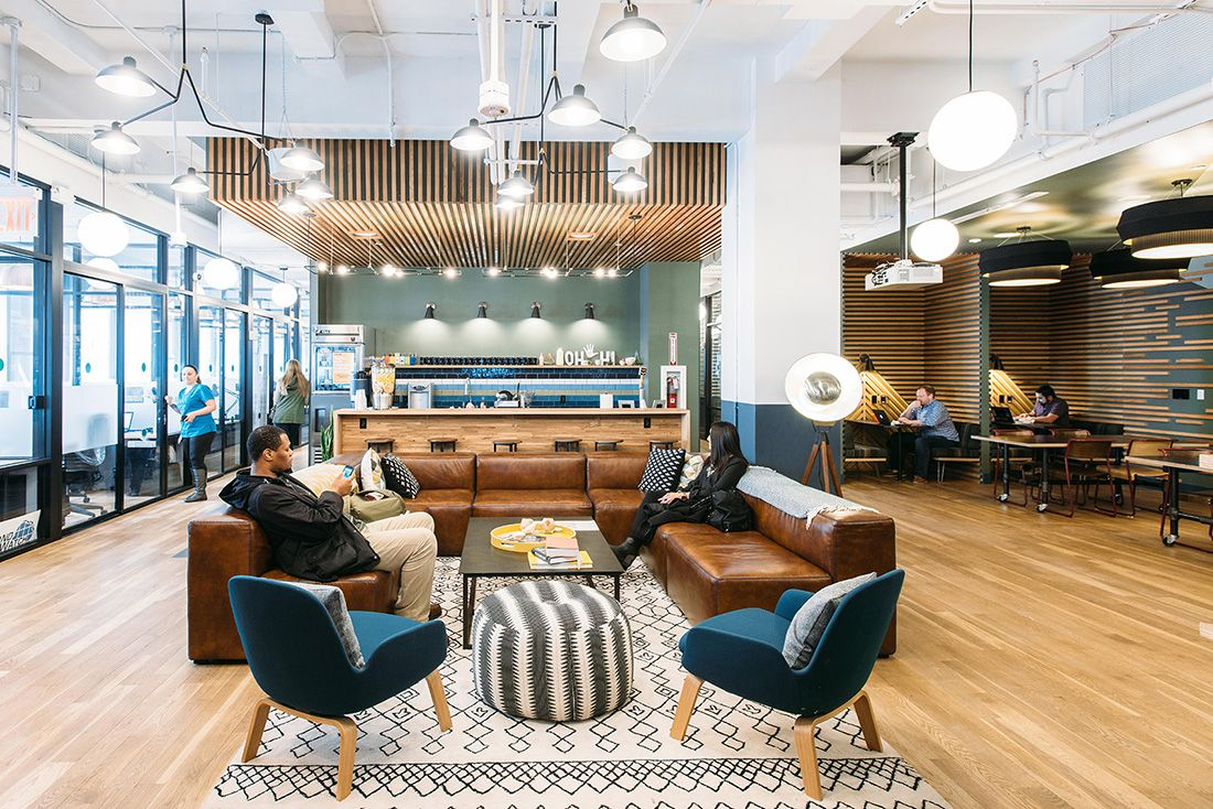 A Tour Of Wework 5th Ave Corporate Office Design Office Interiors Office Space Design