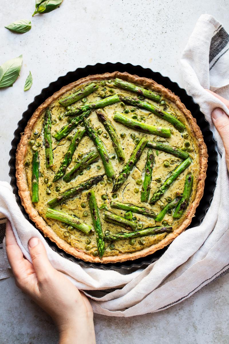 Vegan quiche with asparagus Recipe Vegan quiche