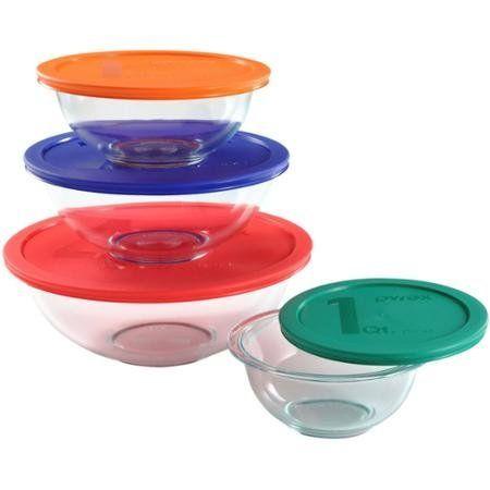 Amazon Com Pyrex 8 Piece Glass Food Storage Set With Lids Pyrex Glass Storage Containers Wi Glass Food Storage Glass Food Storage Containers Food Storage Set