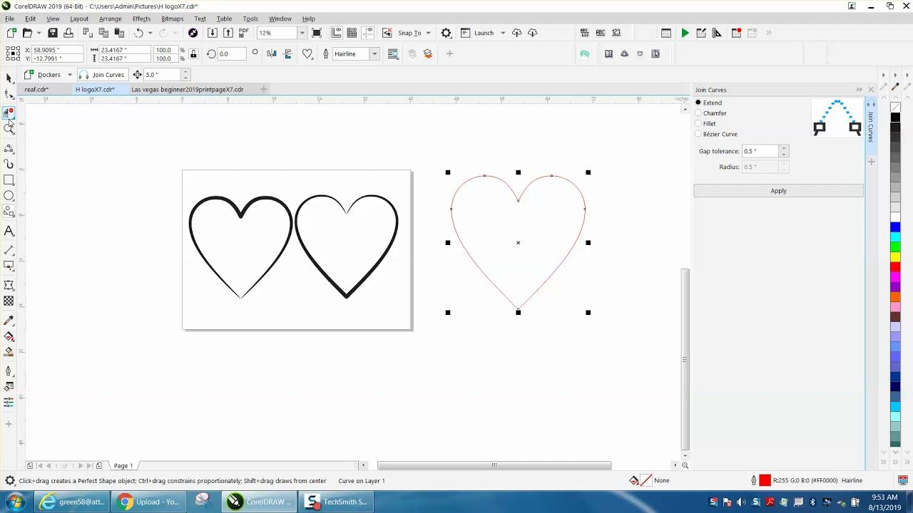 Corel Draw Tips Tricks Artistic Media Tool More Info Part 4 Heart Youtube In 2020 Artist Draw Trick