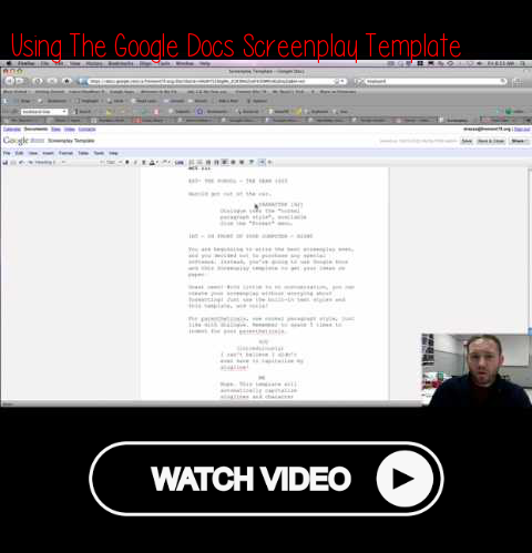 Using the Google Docs Screenplay Template | Better