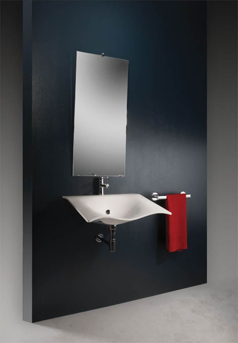 Contemporary Bathroom Sink From Front Side View Contemporary