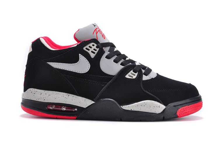 on sale ebba8 ebaea Nike Air Flight 89 Squad 306252-026 Black Cement Grey-Fire Red-White02