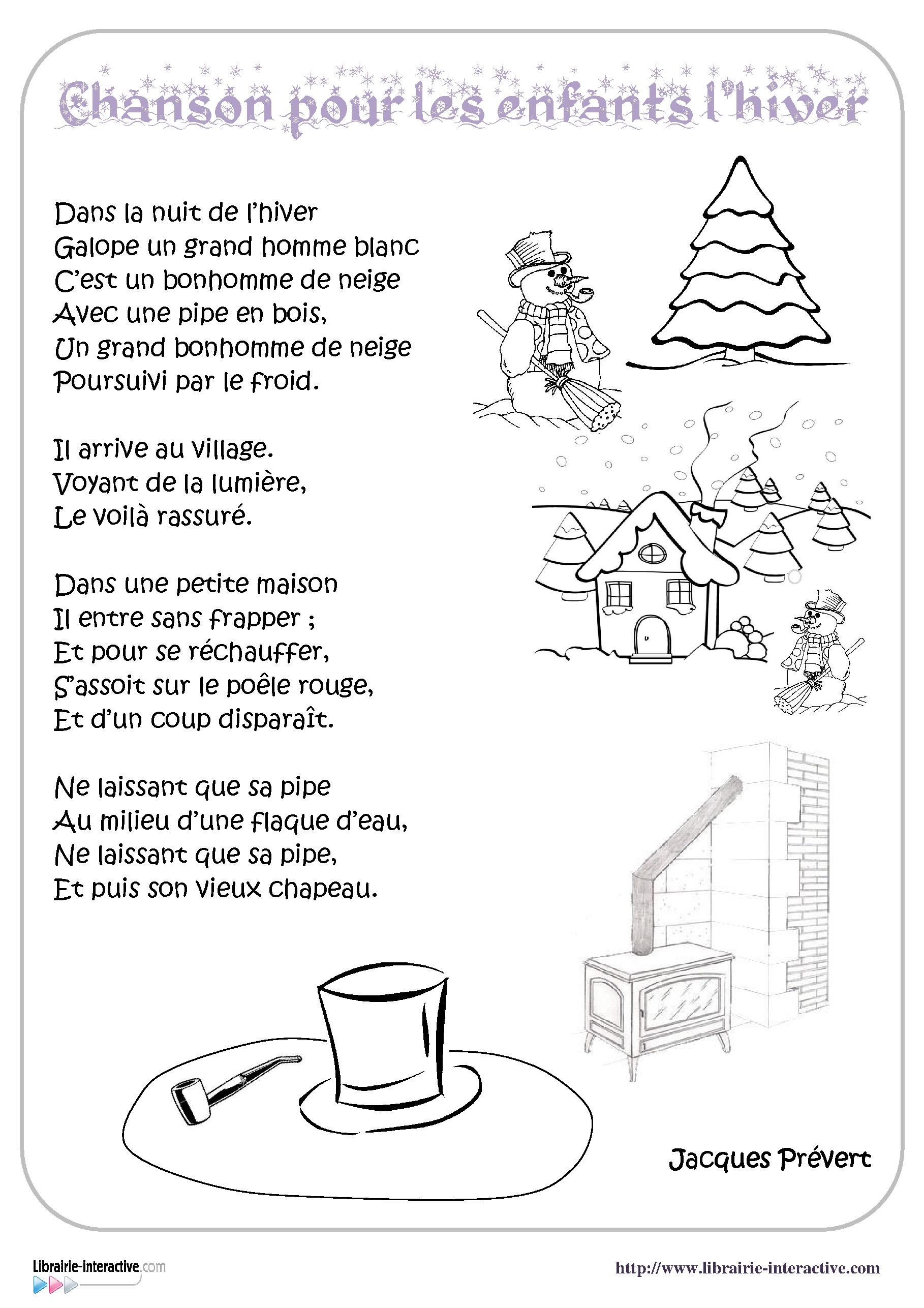Librairie Interactive Chanson Pour Les Enfants L Hiver Chanson Pour Anniversaire Chanson Comptine Hiver