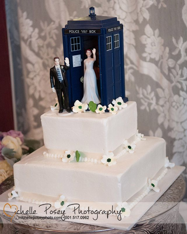 High Five Bride and Groom Figurines Couple crafts Tardis and
