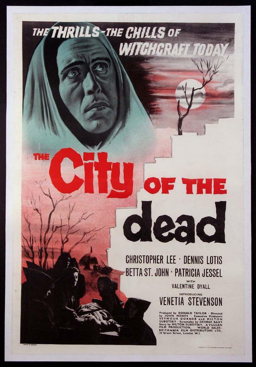 City Of Dead Aka Horror Hotel Movie Poster 1960