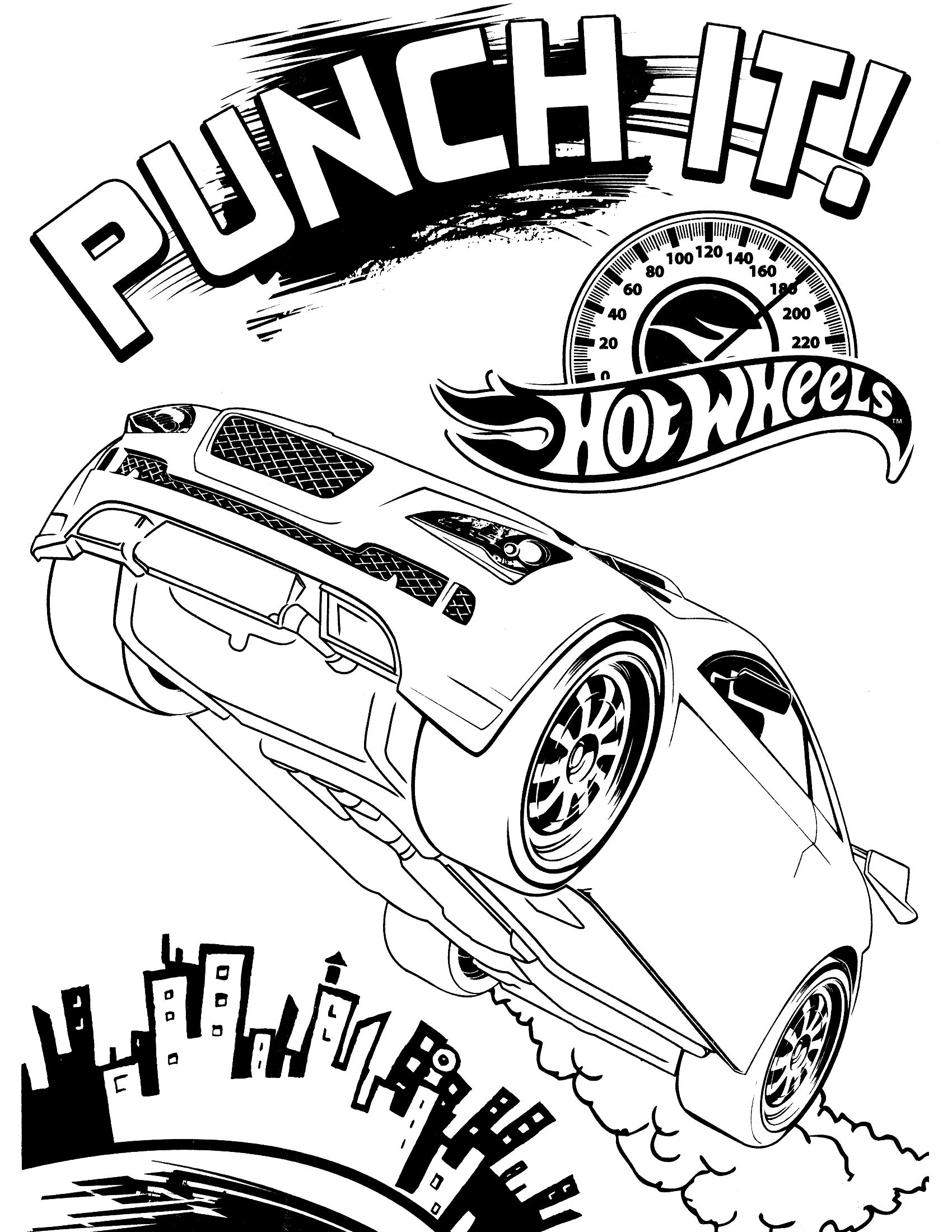 Free printable hot wheels coloring pages for kids coloringpages