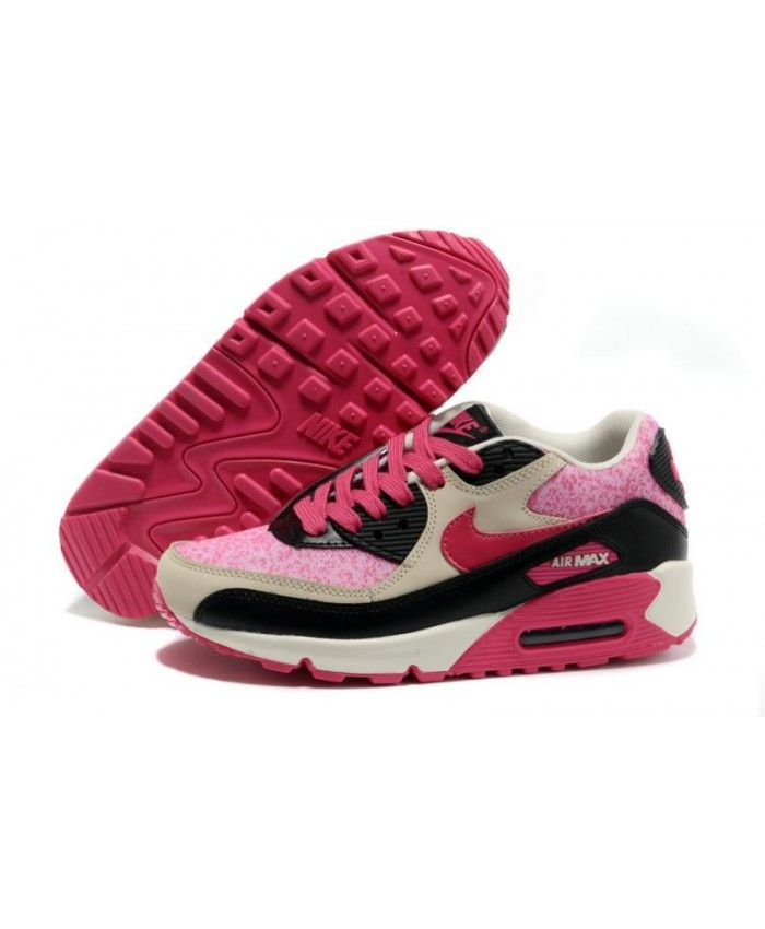 magasin en ligne fa7ac c98d4 Chaussure Nike Air Max 90 Leather Rose Noir Beige | Nike Air ...