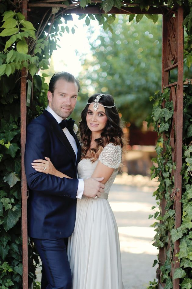 Stylish California Wedding The Bride Wore A Reem Acra Wedding