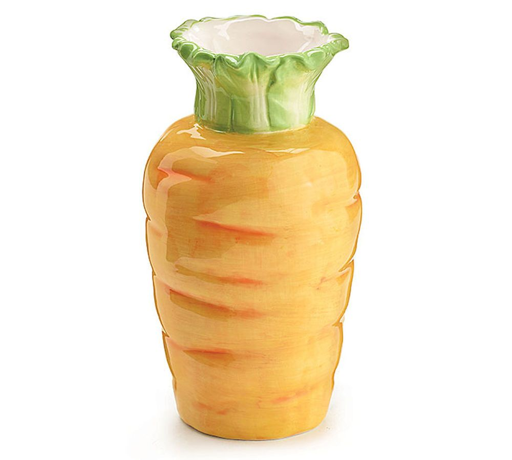 New Carrot Vase Ceramic 7 5 Tall Easter Spring Table Centerpiece Burton Burton