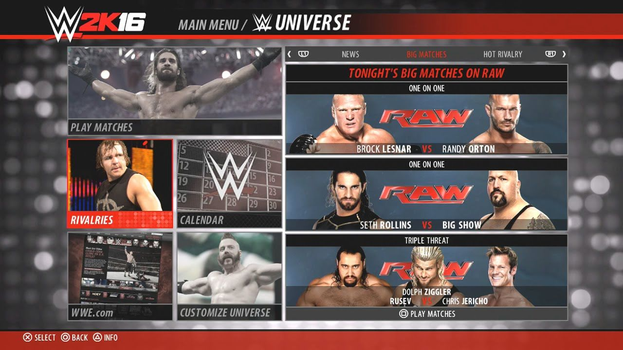 WWE 2K16 Universe Mode (Menu, Rivalries, Titles & Edit Show)  WWE 2K16 Related!  Pinterest