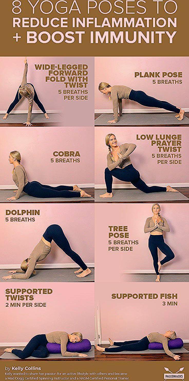 8 Yoga Poses to Reduce Inflammation and Boost Immunity. #exercise #exercises #exercisefitness #worko...