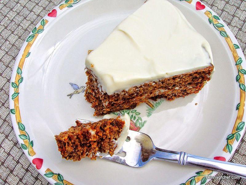 Skinny Gluten Free Low Glycemic Grain Free Carrot Cake