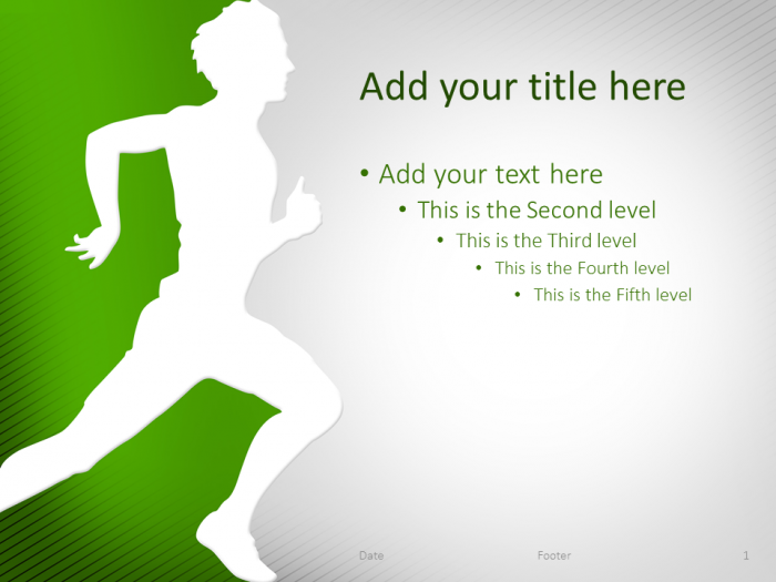 Running Powerpoint Template Green  Sport Powerpoint Templates