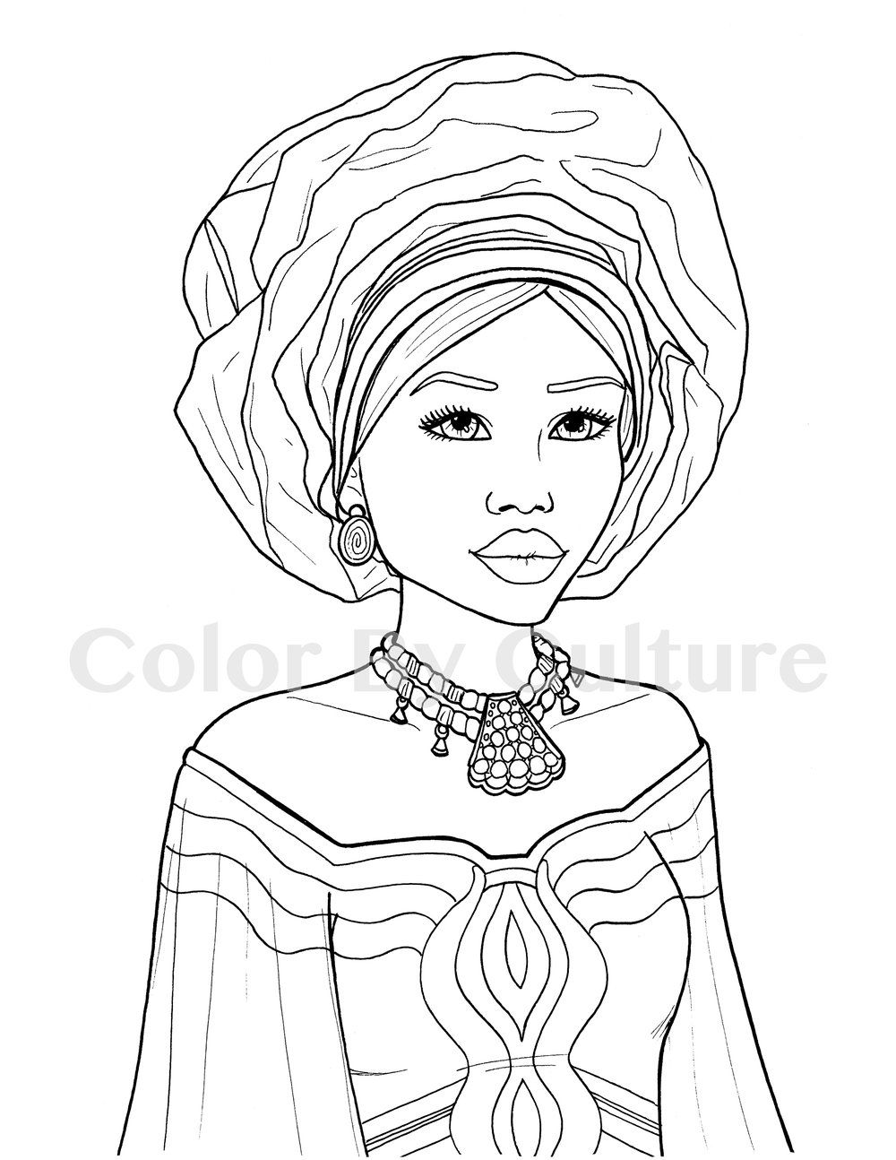 Printable Coloring Book African Fashions Color By Culture African Drawings Printable Coloring Book Coloring Books