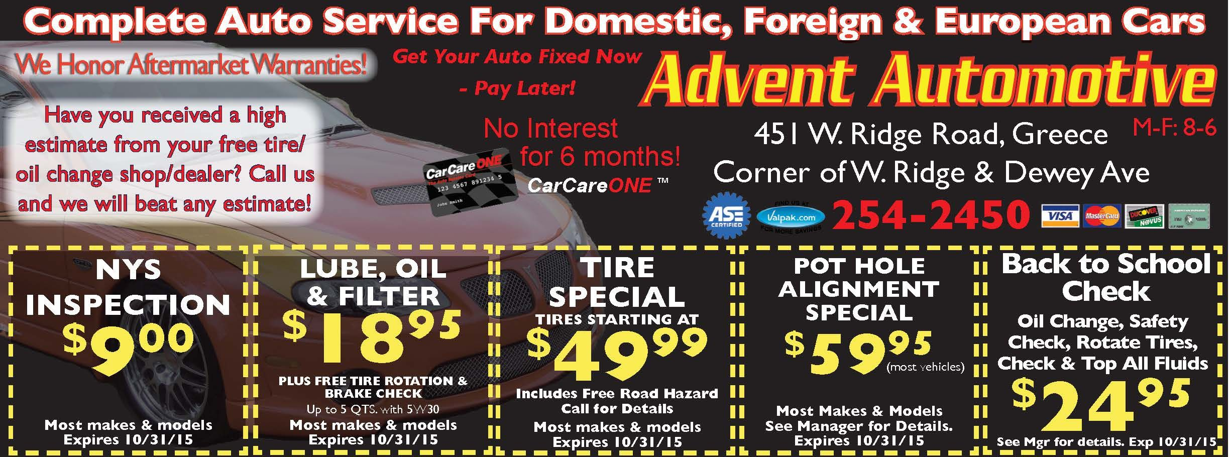 Precision Auto Service for savings on brakes front end car