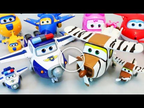 Super Wings Robot Transformer Planes Pororo Taxi Cars Toys