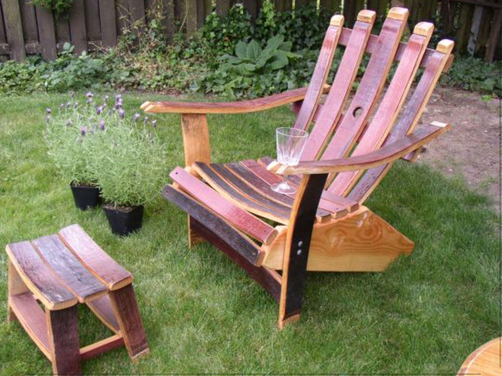 Fletchers Furniture Wine Barrel Adirondack Chair & Fletchers Furniture Wine Barrel Adirondack Chair | Outdoor Living ...