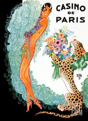 Josephine Baker: Casino De Paris Art Print by Zig (Louis Gaudin) at Art.com