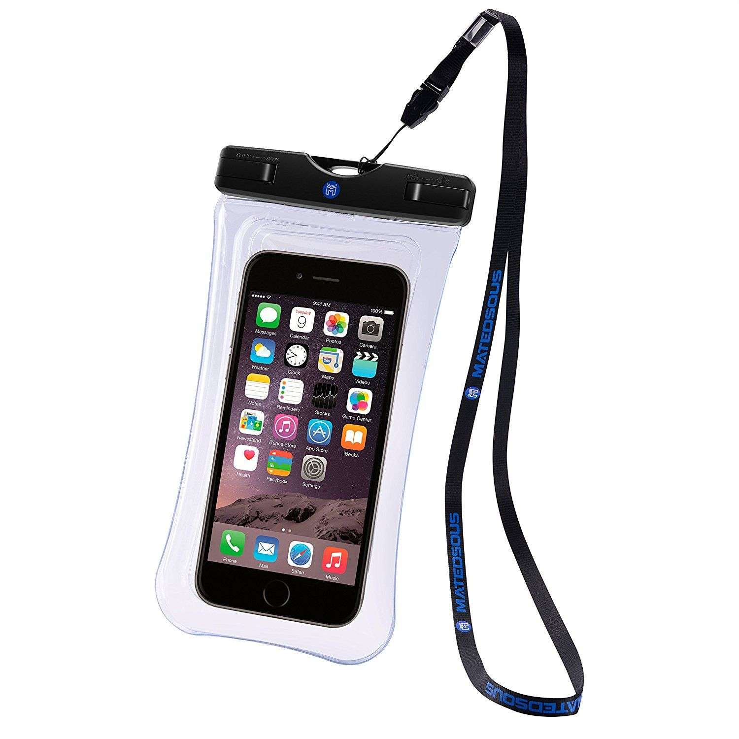 new arrival ed36e a3809 FLOATABLE waterproof underwater phone case with Lanyard- Double side ...