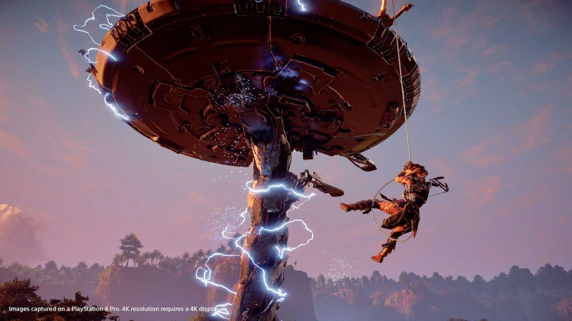 Horizon Zero Dawn patch 1.13 adds support for background music playback, the ability to drop treasure chests