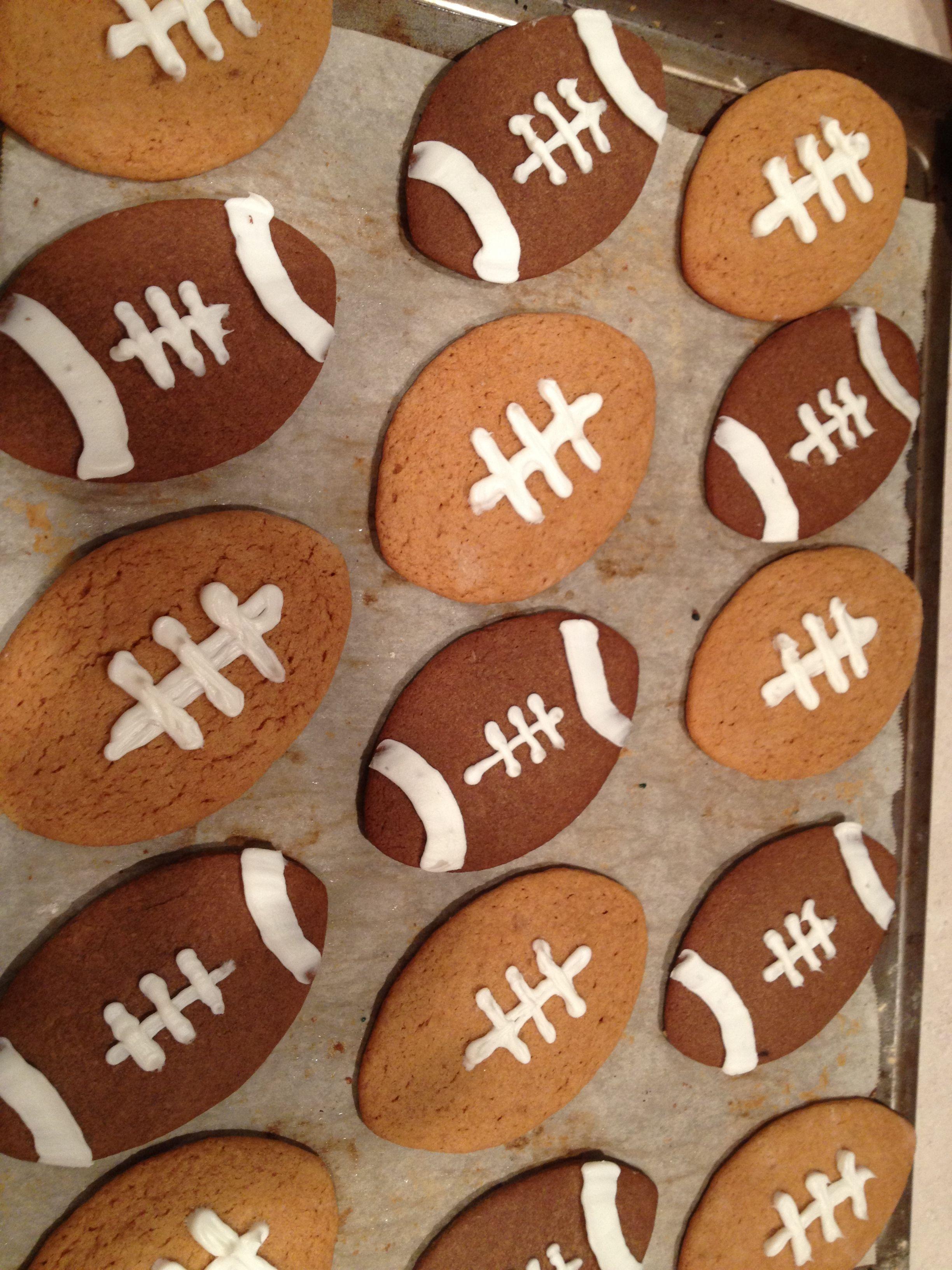 Baking Super Bowl cookies