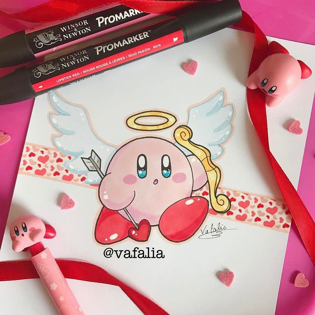 Pin By Amy Skye On Kirby Valentine Drawing Valentine Crafts Valentine Day Boxes