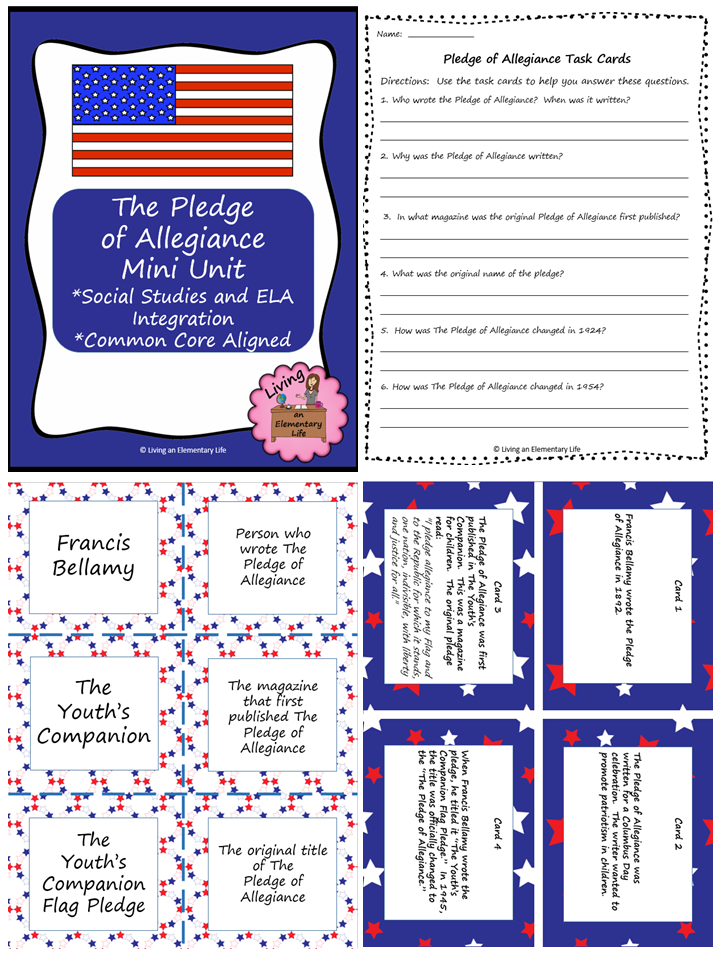 Do students really know about the Pledge of Allegiance?  This min unit will teach them all about it.