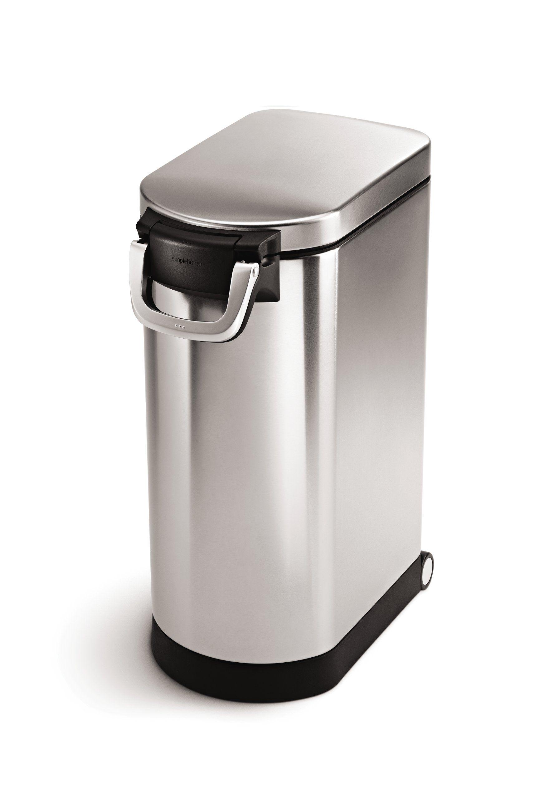 Amazon Com Simplehuman Medium Pet Food Storage Can Brushed Stainless Steel 25 L 27 Lb 1 Dog Food Storage Containers Pet Food Container Dog Food Container