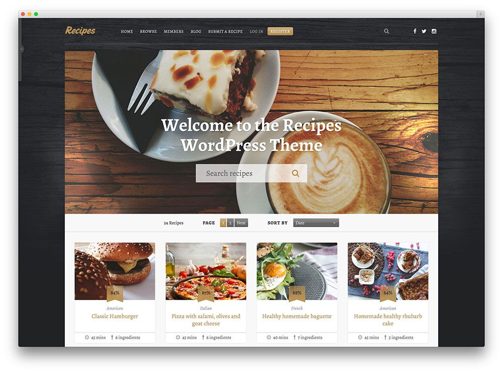 Recipes review and sharing website recipes pinterest a hand picked list of the best food wordpress themes designed and developed to showcase food recipes in a beautiful and professional manner forumfinder Choice Image