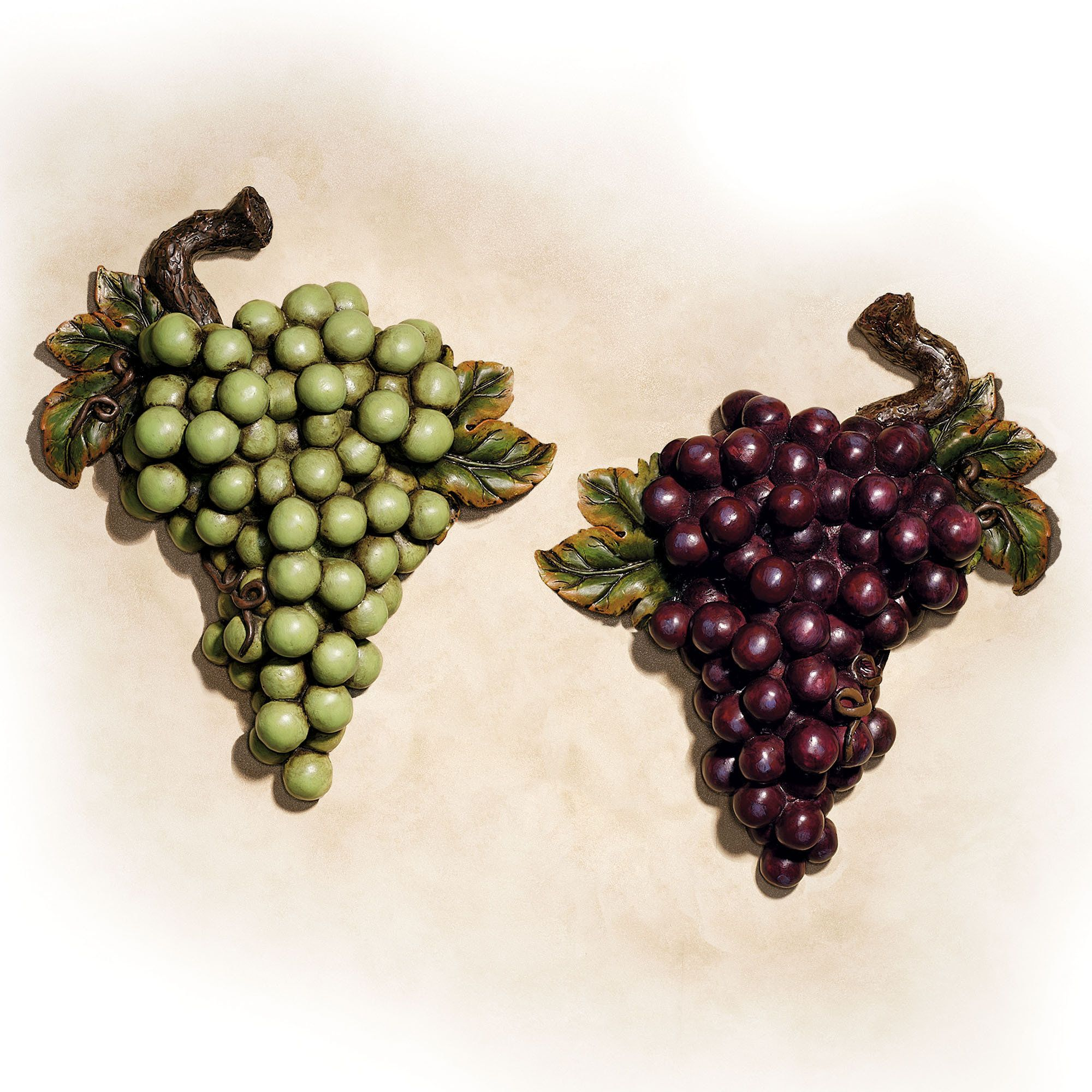 Bountiful Grapes Wall Accent Set | Wall accents, Walls and Kitchens