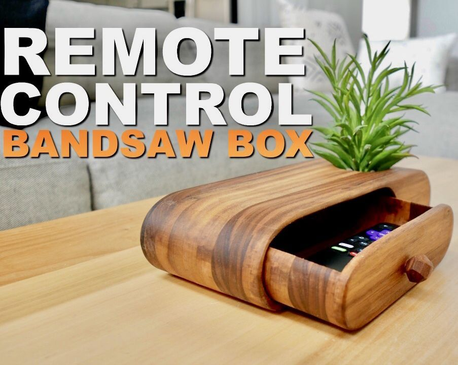 Bandsaw Box With Remote Control Drawer
