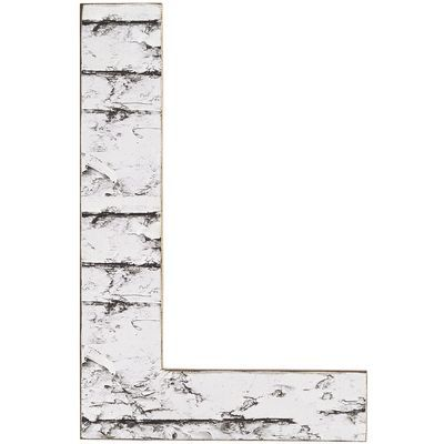 Weathered Letter Wall Decor - L