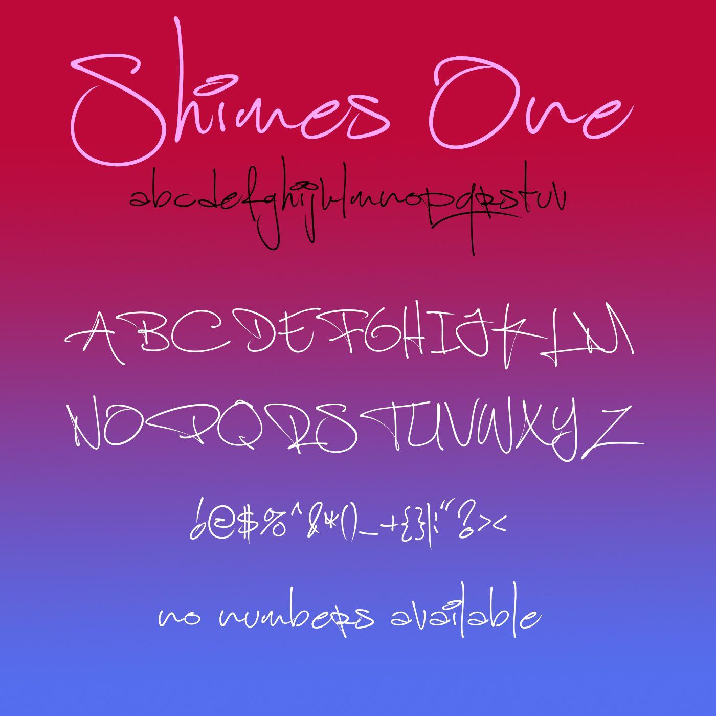 Easy Fun and Cute Shimes Once Font. (NOTE no numbers