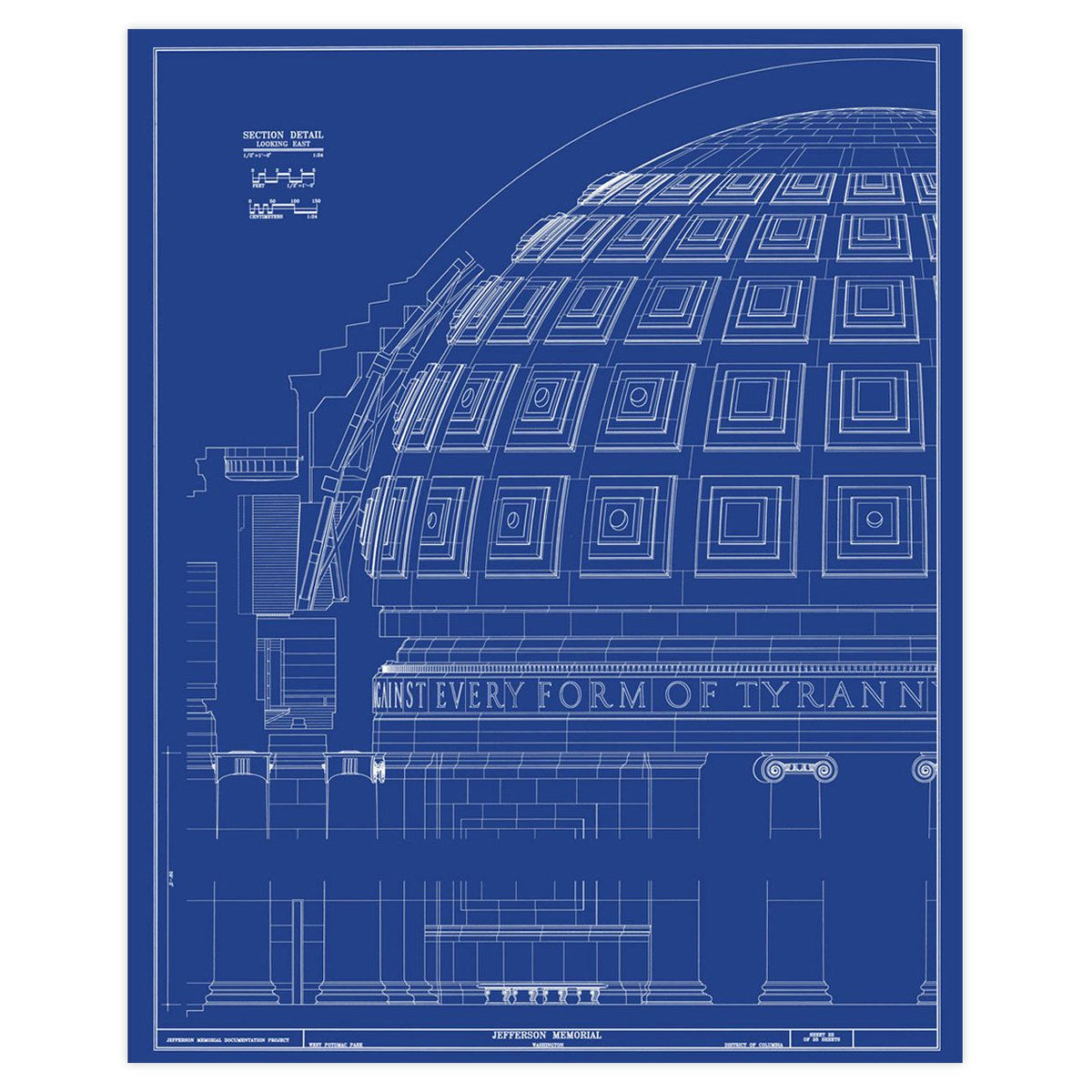 Jefferson Memorial Dome Blueprint | Prints | Pinterest | Jefferson ...