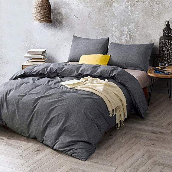 Amazon Com Atsense Duvet Cover Queen 100 Washed Cotton Bedding Duvet Cover Set 3 Piece Ultra Soft A Farmhouse Bedding Sets Best Bedding Sets Bedding Sets