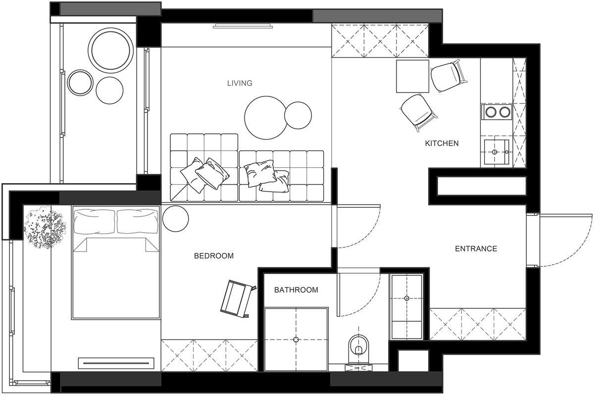 3 One Bedroom Apartments With Floor Plans Floor Plans Apartment Floor Plans One Bedroom Apartment