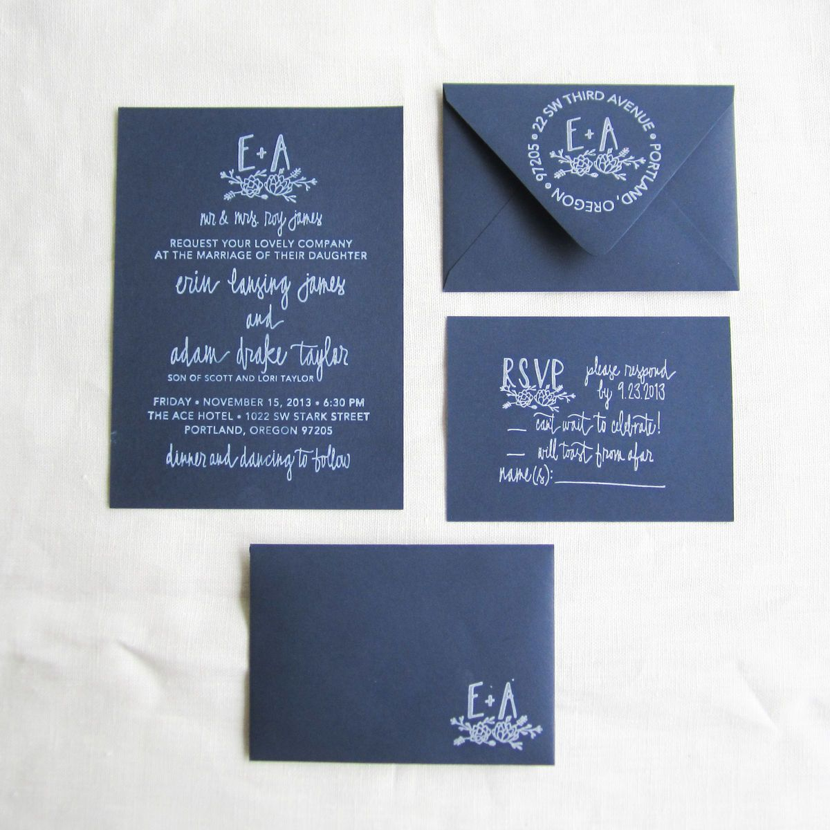 Hand Stamped Invitations 2014 Wedding Stationery Trend Whimsique