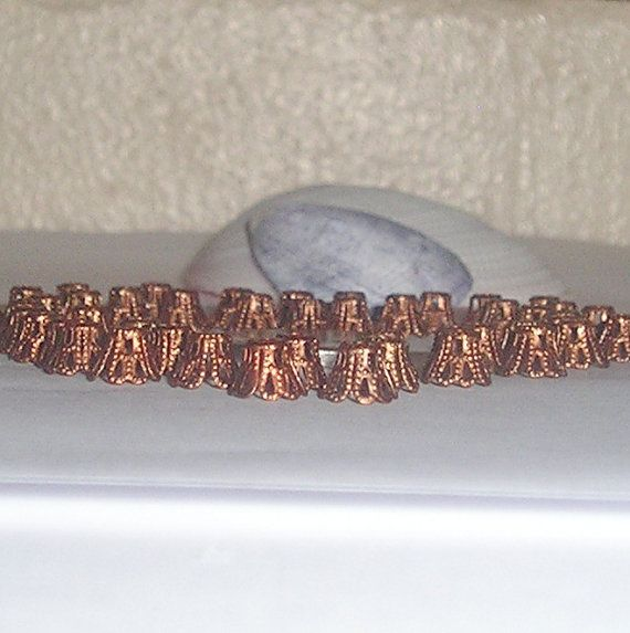 100pcs 6 x 6mm Small Antique Copper Filigree Bead by FireSwanBeads, $2.50 http://www.FireSwanBeads.etsy.com