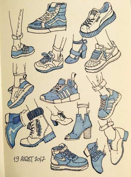 38 Ideas Sneakers Art Drawing Sneaker Art Drawing Clothes Sketches