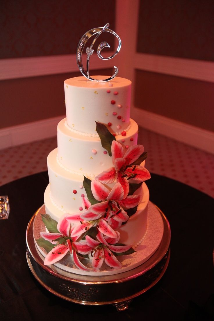 wedding cakes with lilies and roses stargazer lilies торт stargazer wedding 26057