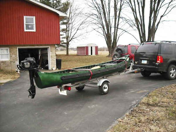 Trailex Sut 200 S Trailer Shown With Sportspal S 15 Canoe And