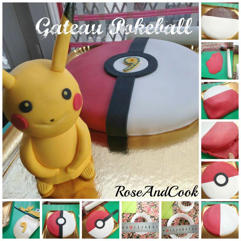 gateau pokeball anniversaire pokemon tuto en images rose cook kids birthday. Black Bedroom Furniture Sets. Home Design Ideas